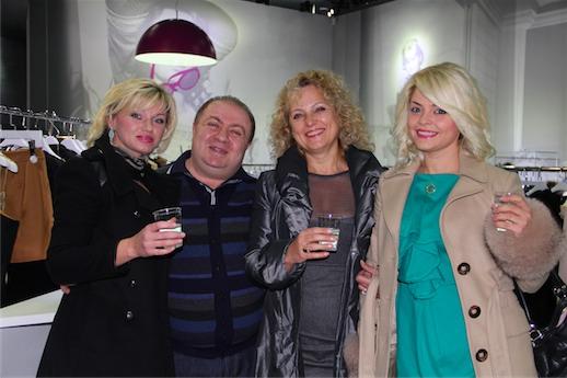 Татьяна Гончарова на открытие магазина 555 в Римини