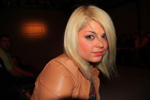 Татьяна Гончарова на показе Braschi в Милане